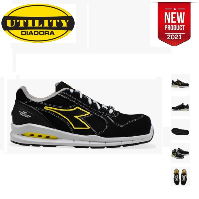 SCARPE ANTINFORTUNISTICA DIADORA UTILITY RUN NET AIRBOX LOW S3 SRC - COLORE NERO cod. 701.176221